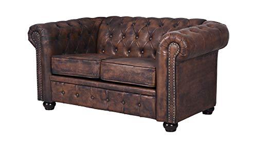 Unbekannt Englisches Sofa Chesterfield Couch Herrenzimmer Sitzbank Loungesofa Loft fha009 Palazzo Exklusiv