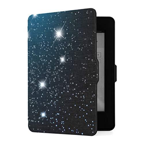 Funda Kindle Paperwhite 1 2 3, Fondo Espacial con Estrellas Brillantes Cosmos Eps10 Funda de Piel sintética con Smart Auto Wake Sleep para Amazon Kindle Paperwhite (para Las Versiones 2012, 2013, 201