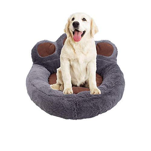MAILESPET Cama para Perros Cómoda Suave Impermeable Lavable para Gatos y Perros Pequeños Medianos y Grandes Gris Oscuro