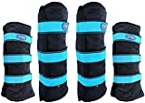 Professional Equine Large 4-Pack 600D Horse Travel Protection Boots Black 4107TR