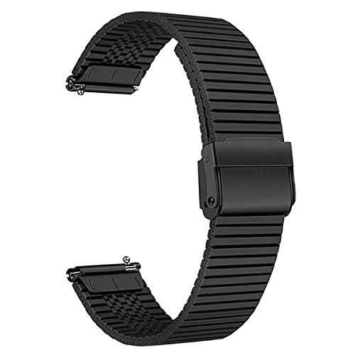 TRUMiRR Reemplazo para Samsung Galaxy Watch 3 45mm/Watch 46mm/Gear S3 Correa, Correa de Acero Inoxidable Correa metálica de Malla para Fossil Gen 5 Carlyle, Amazfit GTR 2e/GTR 47mm, Xiaomi Mi Watch