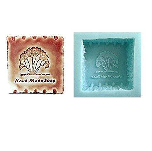Vierkante handgemaakte siliconen mal voor zeep met gegraveerde handgemaakte zeep - handgemaakte zeep - ook geschikt voor zeep