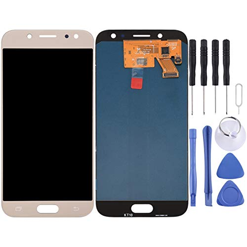 Dongdexiu Accesorio de Repuesto para Samsung Galaxy J5 (2017) / J530 Pantalla LCD Original Pantalla táctil (Color : Gold)