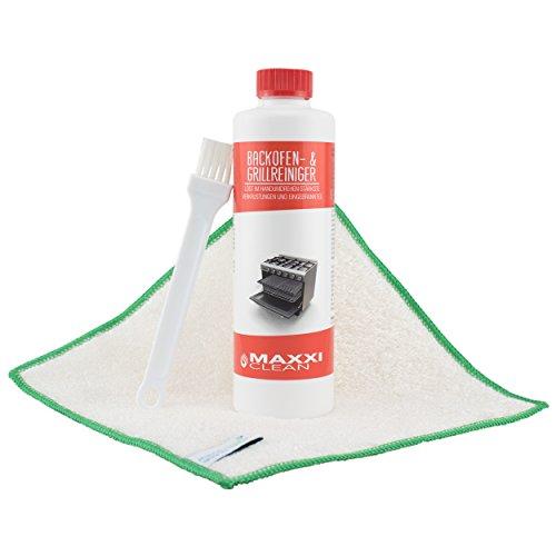 Maxxi Clean 3er Set/Backofenreiniger 500ml / Grillreiniger Pinsel/Millionentuch Bambus/Gelpaste Fettlöser/zur einfachen und schnellen Ofenreinigung