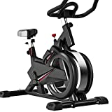 Spinning Fitness Bike Home Silent All-Inclusive Sports Self-Biking Smart Game App Práctica Bicicleta de Ejercicio (Color: Black, Size: 102x52.5x116cm)