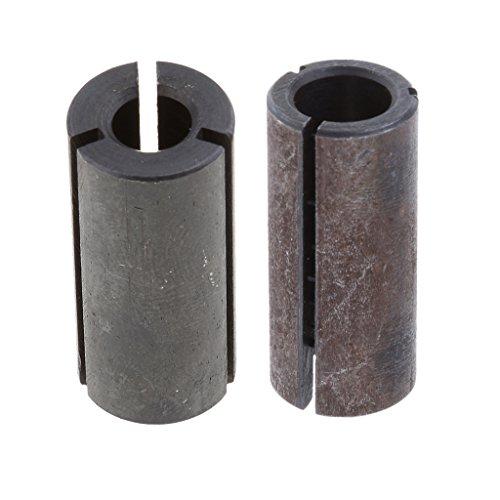 MERIGLARE Adaptador de Destornillador de Portabrocas de 2 Piezas para Brocas de Torno CNC de 6,8 Mm a 12,7 Mm