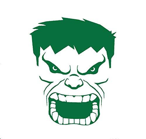 CCI Hulk Face Angry Comics Decal Vinyl Sticker|Cars Trucks Vans Walls Laptop|Green|5.5 x 3.8 in|CCI2082