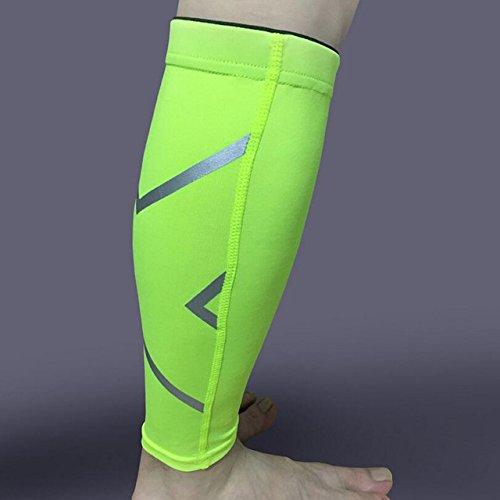 Nuevo producto 1 pieza hombres mujeres ciclistas pantalones calentadores de pierna transpirable baloncesto fútbol running compresión rodillera protección deportiva, verde, XL---30CM