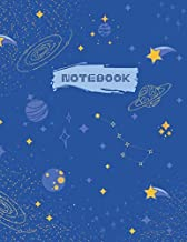 Notebook: Night Sky Notepad   5x5 Graph paper   One subject