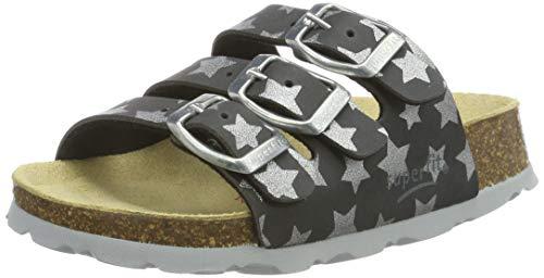 Superfit Mädchen Fussbettpantoffel Pantoffeln, Grau (Grau 21), 30 EU