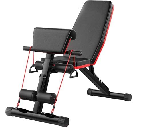 ZT Banco de Pesas Ajustable para Fitness Banco Abdominales Plegable Banco Gimnasio Banco de Musculación Multifunción (B)