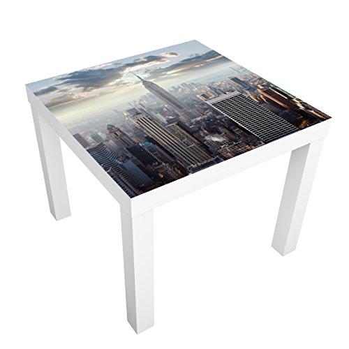 Apalis Möbelfolie für IKEA Lack Klebefolie Deko Sonnenaufgang in New York 55 x 55cm