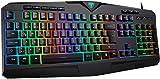 VicTsing Gaming Tastatur, PC Tastatur RGB, kabelgebunde Tastatur beleuchtete(QWERTZ)-8 unabhängige Tasten-25 Tasten Anti-Ghosting DE Layout, Wired Gaming Keyboard, Ideal für PS4/Laptop/Mac Schwarz
