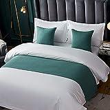 Twelve Solid Bed Runner Bedding Scarf Cotton Line Bed Decorative Scarf for Bedroom Hotel Wedding Room (Queen 50x210cm, 05)
