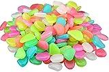 50 piedras luminosas para exteriores, piedras luminosas, piedras decorativas para Halloween, acuario, jardín, pasillo, habitación de los niños, decoración multicolor