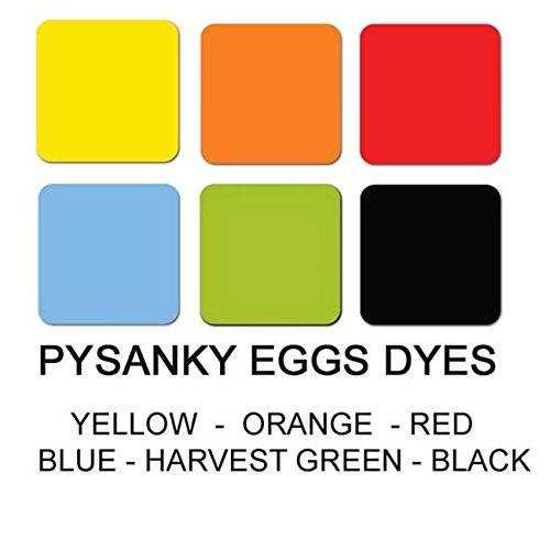 Set of 6 Batik Dyes for Pysanky Ukrainian Easter Eggs Decorating