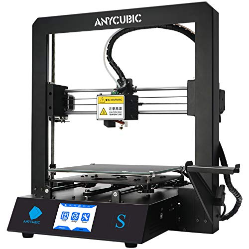 ANYCUBIC Mega S 3D Printer, Upgrade FDM 3D Printer with Extruder and Suspended Filament Rack + Free Test PLA Filament, Works with TPU/PLA/ABS, 8.27''(L)x8.27''(W)x8.07''(H) Printing Size