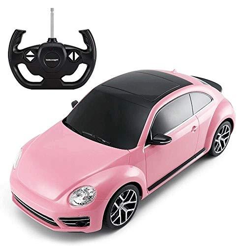 SSBH Rosa Käfer Kinder Fernbedienung Auto-Spielzeug-Modell RC Elektro-Antrieb Professionelle Racing High-Speed-Sport-Auto for Kinder Erwachsene Kleinkinder Junge Mädchen Geburtstag