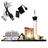 GEAMENT LED Light Kit for Architecture Skyline Collection Las Vegas - Compatible with Lego 21047 Building Model (Lego Set Not Included)