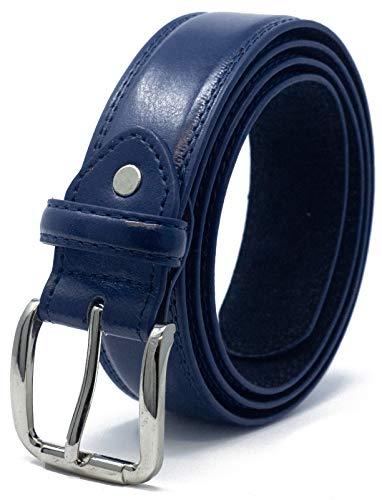 Ossi 32mm- Cinturón para hombre, Medio (82cm - 92cm cintura), Azul oscuro