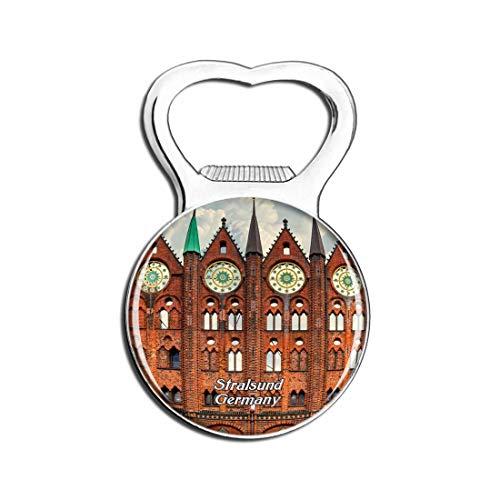Weekino Stralsund Rathaus Deutschland Bier Flaschenöffner Kühlschrank Magnet Metall Souvenir Reise Gift
