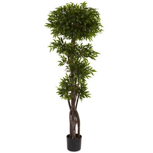 Nearly Natural 5400 Ruscus Tree, 5-Feet, Green