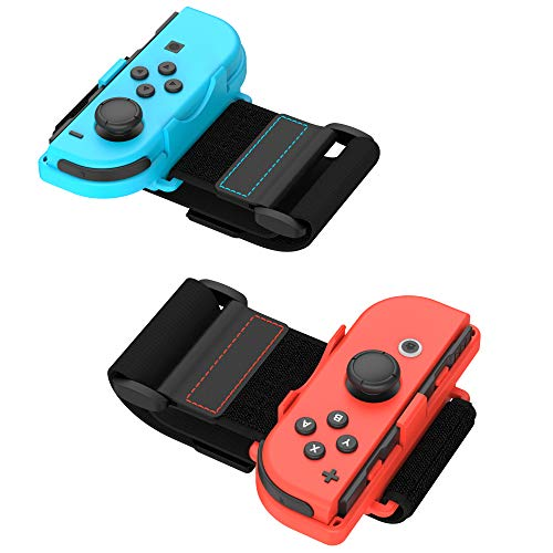 TalkWorks Joycon Wrist Band Straps for Nintendo Switch - Adjustable Right/Left Controller Joy cons Accessories - Ideal for Just Dance 2015, 2018, 2019, 2020, 2021