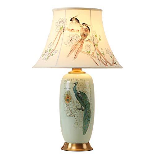 Lampe de table de chevet en céramique de cuivre éclairage de salon d'hôtel