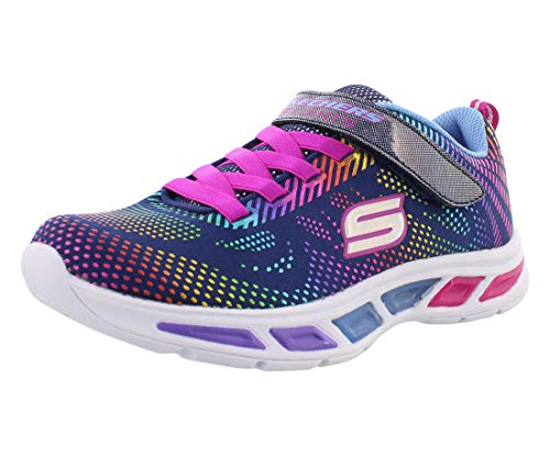 Skechers Litebeams-Gleam N'Dream, Zapatillas Niños, Multicolor (NVMT Black Mesh/Multi Foil Print/Trim), 31 EU