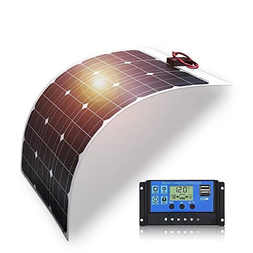 Batería Solar de 50W Panel Solar Flexible 50W 12V 24v Controlador + Kits de sistema solar 10A para barco de pesca Camping coche