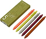Kaco Pure Retractable Gel Ink Pens Soft Touch, 0.5mm Extra Fine Point 5-Pack of Assorted Color Set