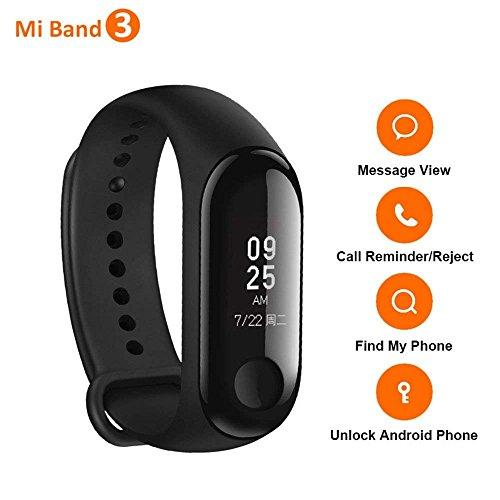 Xiaomi Mi Band 3 Braccialetti Activity Tracker Pedometri Fitness Impermeabile Versione Internazionale