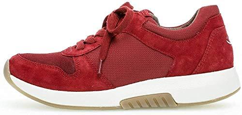 Gabor Damen Low-Top Sneaker 36.946, Frauen Sneaker,Halbschuh,Schnürschuh,Strassenschuh,Business,Freizeit,Dark-Opera,42 EU / 8 UK