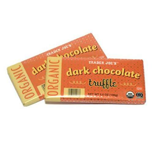 Trader Joe's Organic Dark Chocolate Truffle Bar, 3.5 oz. (2 Pack)