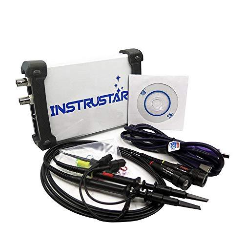 NO BRAND Osciloscopio Digital ISDS2062A 20MHz Virtual PC USB osciloscopio de 2 Canales de Ancho de Banda 60MSa / S de 12 bits ADC analizador FFT de 2 Canales (Color : Blanco, tamaño : Un tamaño)