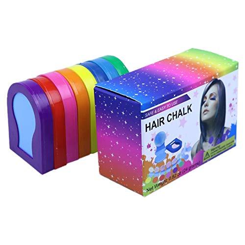 Nrpfell Tinte para el Cabello de 8 Colores, FáCil de Usar, FáCil de Limpiar, Tinte para el Cabello en Polvo Desechable, Polvo Temporal para el Cabello