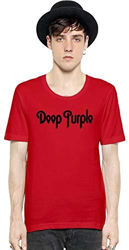Deep Purple Logotipo Logo Men Short Sleeve T-Shirt tee Shirt Stylish Fashion Fit Custom Apparel by Medium