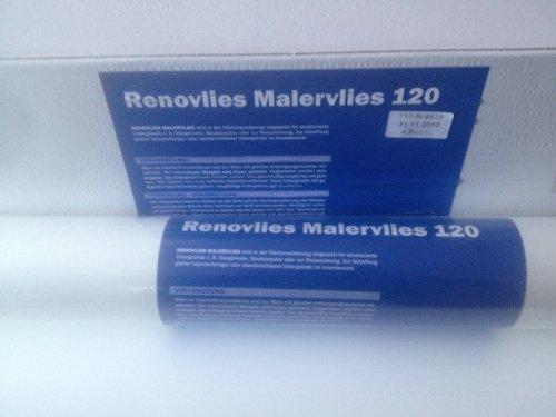 Renovlies Glattvlies Malervlies Renoviervlies 120g 18,75m² 1 Rolle