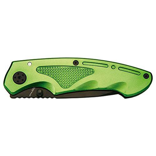 Couteau de Poche Noir Wolf Outdoor - avec Clip de Ceinture - Qualité supérieure - Couleur : Vert