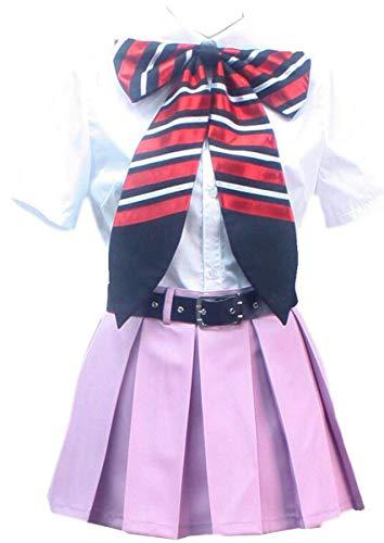 Poetic Walk Ao no Blue Exorcist Okumura Cosplay Shiemi Moriyama Uniform Sailor Dress Custom (Womens-L