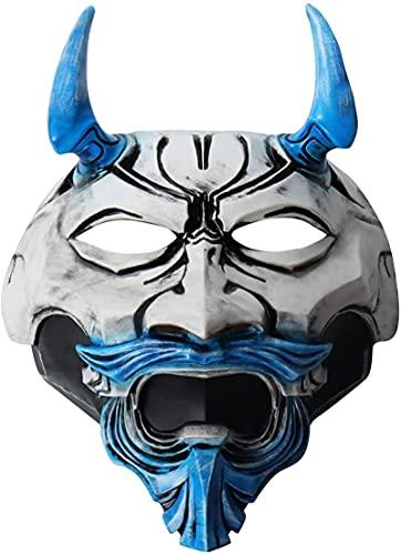 WHXL Assassin Latex Mask Full Fantasma Fantasma Avatar Disfraz de Avatar Adulto Dress Up Party Haunted Casa Decoración de Halloween Decoración