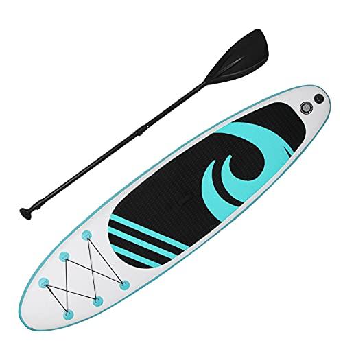 Tabla De Surf Espesa, Tabla De Surf Inflable De Pie Inflable PVC Súper Ligero para Surf En El Agua para Deportes Extremos(Menta Verde)