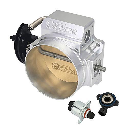 92mm Silver LS Throttle Body with Position Sensors TPS IAC For LSX LS LS1 LS2 LS7#10091