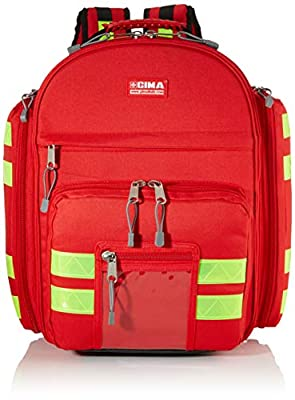 Gima - Logic 2 Rusksack, Backpack, Polyester, Red Colour, Large Size, Dimensions 40x25x47 cm, for Rescuers, Trauma Doctors, Paramedics, First Aid and Civil Protection Professionals from Gima Spa