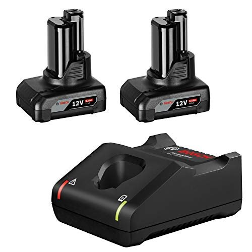 Bosch Professional 12V System Akku Starter-Set 2x GBA 12V 6.0Ah Akku und Schnellladegerät GAL 12V-40 (im Karton)