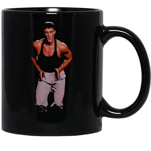 N\A Lustiger Kickboxer-Film Jean Claude Van Damme Tanzszene v3 Tee Lustige Kaffeetasse für Frauen und Männer Teetassen