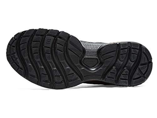 ASICS Zapatillas de correr Gel-Nimbus 22 Platinum para mujer, negro (Negro/Oro rosa), 42.5 EU