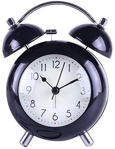 rzoizwko Regalo Creativo Reloj Despertador de cabecera de Escritorio Simple Reloj de Metal Antiguo clásico Retro con Pilas 10,4 * 14,5 * 5,3 cm