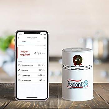 Radon Eye RD200 Ecosense Fastest & Most Reliable Detector OLED Display – Easy Setup & Free App Bluetooth Real-Time Radon Reading Monitor