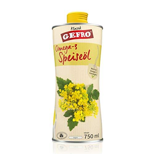 GEFRO Omega-3 Speiseöl kaltgepresstes Rapsöl mit Vitamin E und ohne Gentechnik (750ml)